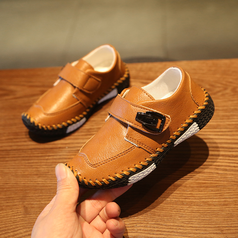 Kids Shoes Boys Flats Children's Male Casual Leather Soft Bottom Footwear