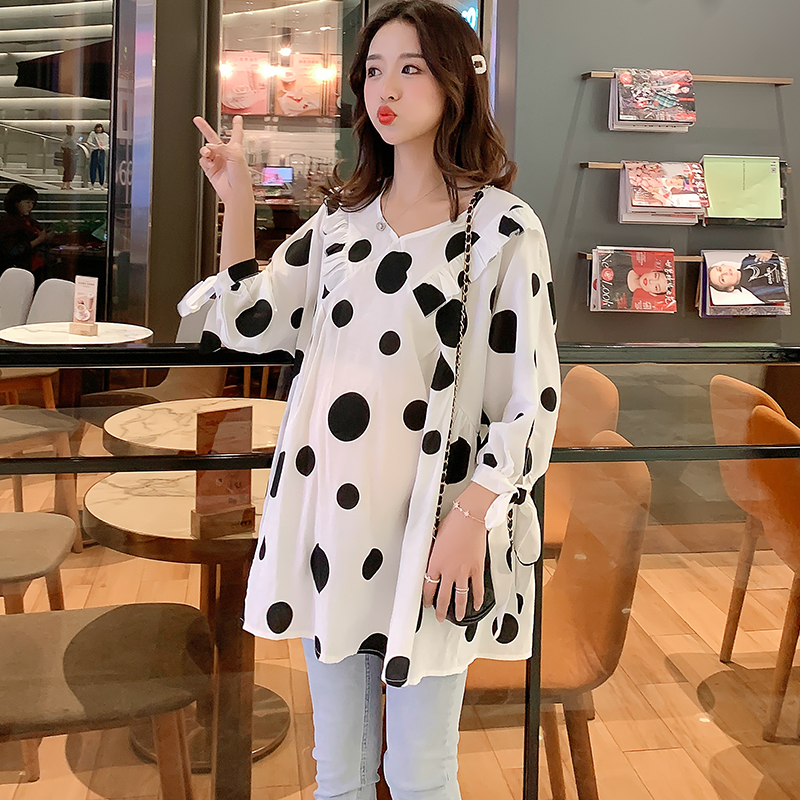 Maternity Clothing Tops Pregnant Women Cotton Summer Long Sleeved Blouse Outwear