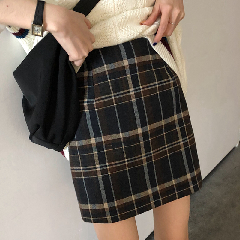 Maternity Clothing Women Slim Checkered Skirt Pregnant Fashion Wear
