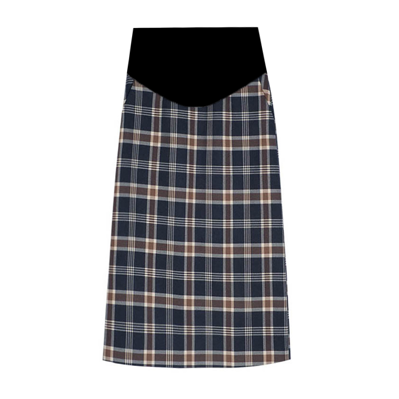 Maternity Clothing Women Slim Long Plaid Skirt Pregnant Fashion Wear