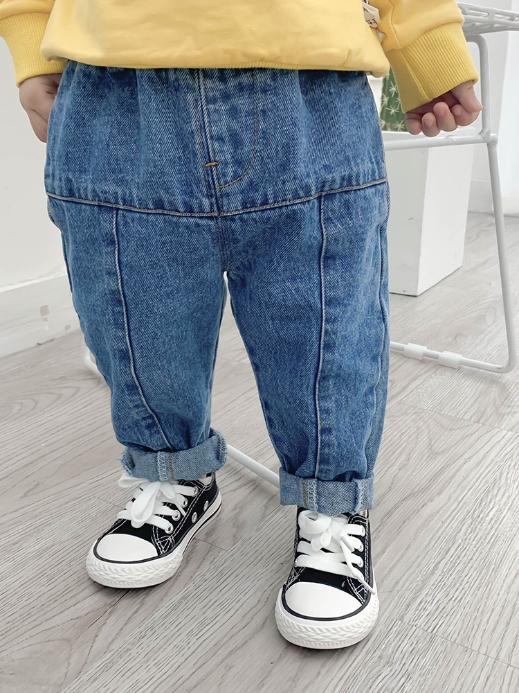 Kids Clothing Casual Stitched Design Denim Pants