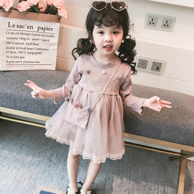 Kids Clothing Long Sleeve Crown Design Dress