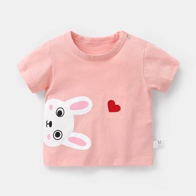 Kids Clothing Short Sleeve Casual Baby T-shirt Cute Animal Printed