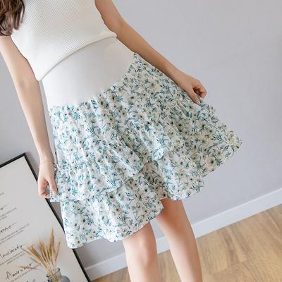 Maternity Clothing New Chiffon Floral Skirt