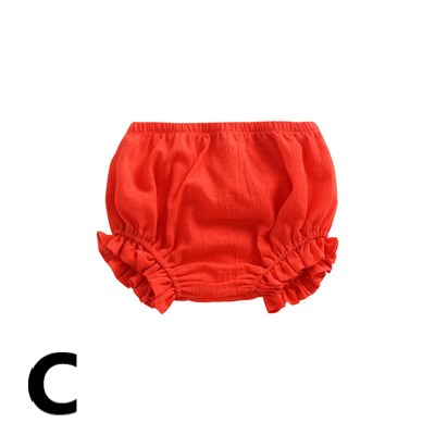 Baby Clothing Summer Solid Color Cotton Shorts