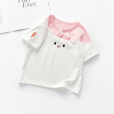 Kids Clothing Short-sleeved Summer Cotton Cute Cartoon Eyes T-shirt