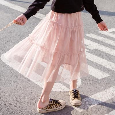 Kids Clothing Long Mesh Princess Skirt