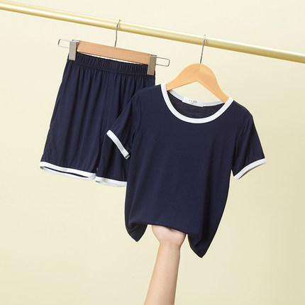 Kids Clothing Short-sleeved Antibacterial Casual Soft Sleepwear Set