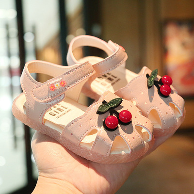 Kids Small Little Princess Cherry Fruit Soft Bottom Baby Shoes