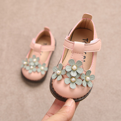 Kids Small Soft Bottom Flower Princess Baby Shoes