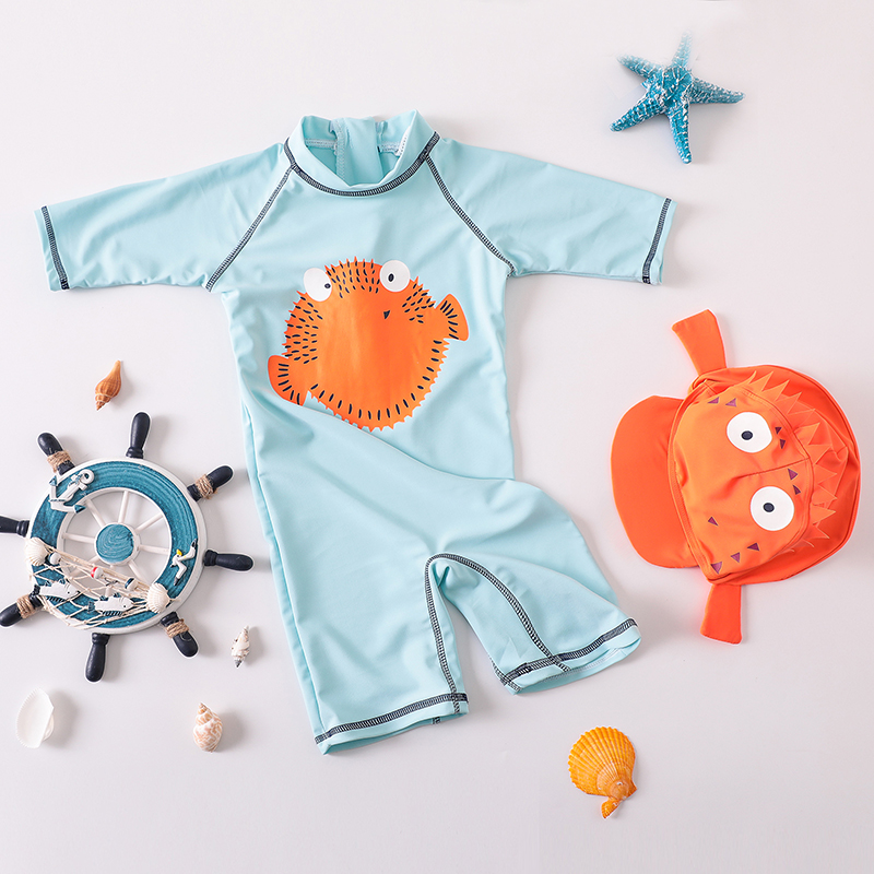 Baby Clothing Cartoon Style Sunscreen Quick-drying Swimsuit