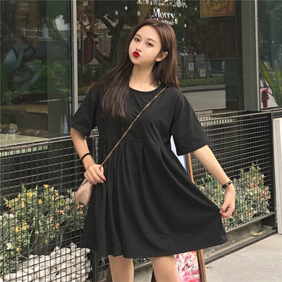 Maternity Clothing Summer Loose Large Mid-length Shirt