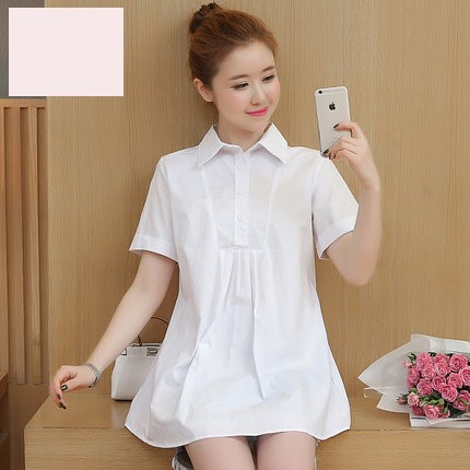 Maternity Clothing Summer Loose Cotton Shirt
