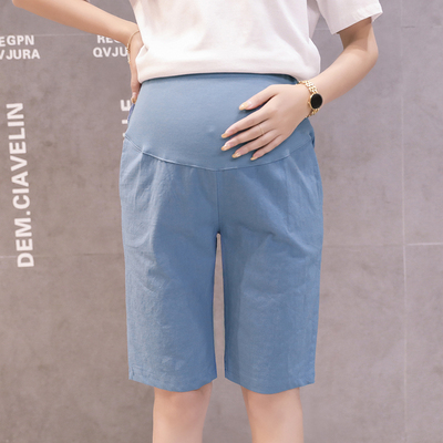 Maternity Clothing Summer Stomach Lift Five-point Pants