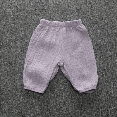 Baby Clothing Cropped Anti-mosquito Cotton and Linen Wide-leg Pants