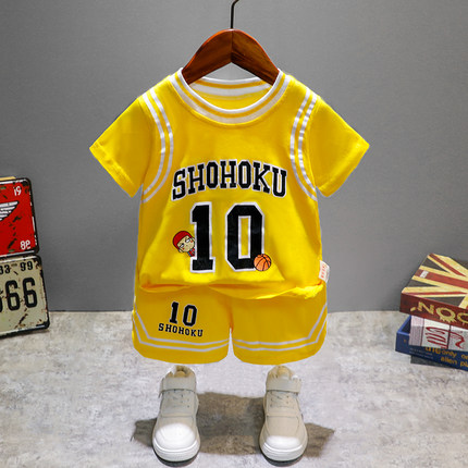 Kids Clothing Boy Summer Sportswear Basketball Uniform Set