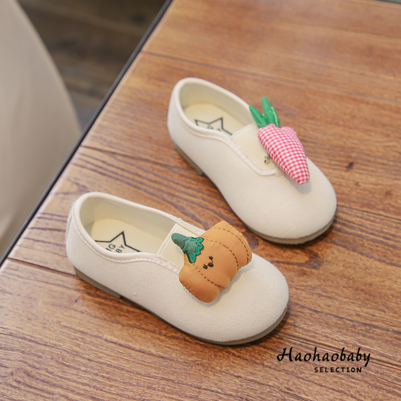 Kids Casual Sewed Vegetable Design Canvas Shoes