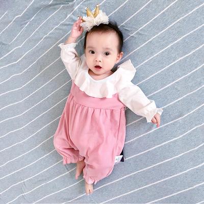 Baby Clothing Newborn Summer Cute Pink Angel Jumpsuit
