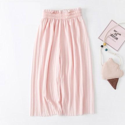 Kids Clothing Girl Wide Leg Loose Cropped Pants