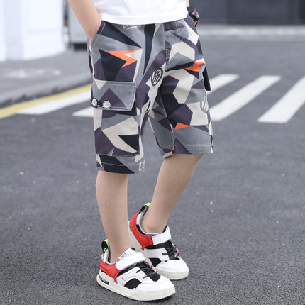 Kids Clothing Boy Camouflage Five-point Pants