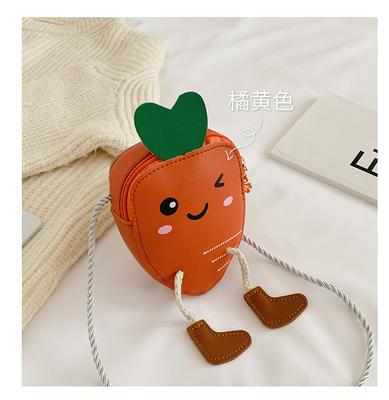 Kids Princess Baby Fashion Mini Carrot Coin Purse Shoulder Bag