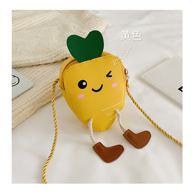 Kids Princess Baby Fashion Mini Carrot Coin Purse Shoulder Bag