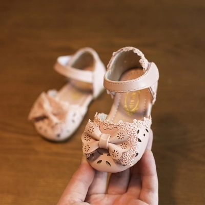 Kids Little Princess Casual Small Leather Bow Shoes