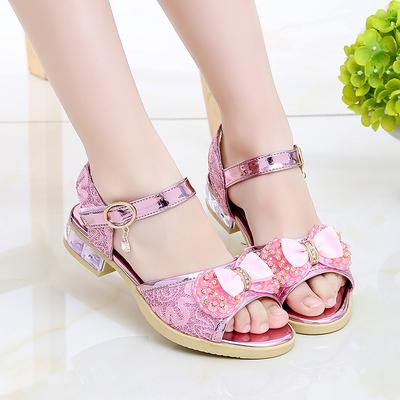 Kids Little Princess Soft Bottom Non-slip Sandals with Precious Stones