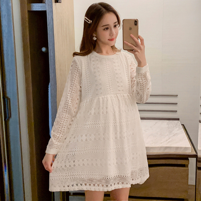 Maternity Clothing Casual Hot Lace Skirt Loose Pregnant Dress