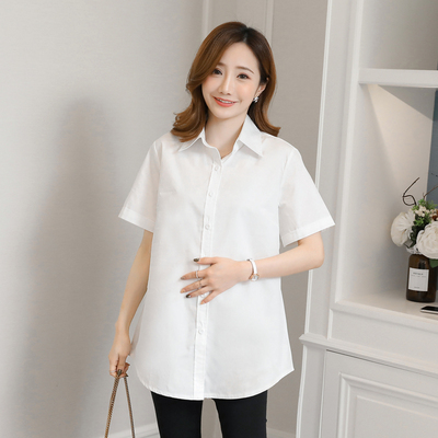 Maternity Clothing Casual Short-sleeved Professional Shirt