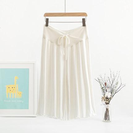 Maternity Clothing Casual Cropped Leggings Loose Wide-leg Pants