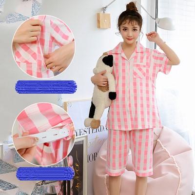 Maternity Clothing Cotton Short-sleeved Lactation Feeding Plaid Night Suit