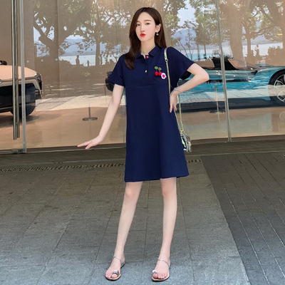 Maternity Clothing Embroidered Skirt Nursing Dress