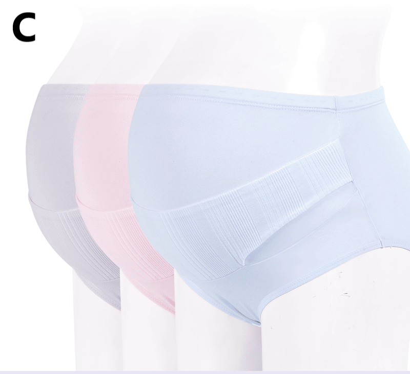 Maternity Clothing Stomach Lift Cotton Crotch Mid-waist Underwear