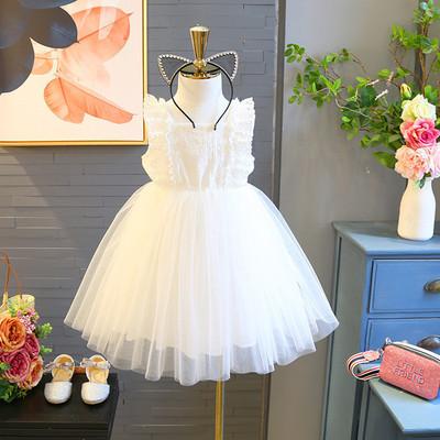 Kids Clothing Princess Sleeveless Mesh Skirt Dress