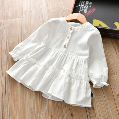Kids Clothing Princess Mid-length Long-sleeved Shirt
