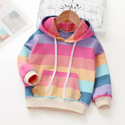 Kids Clothing Rainbow Striped Cotton Shirt