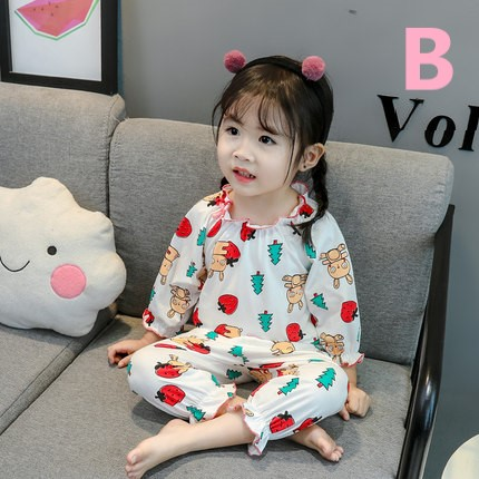 Kids Clothing Girl Long-sleeved Cotton Pajamas