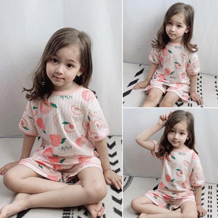 Kids Clothing Girl Comfortable Shorts and Shirt Night Pajama Set