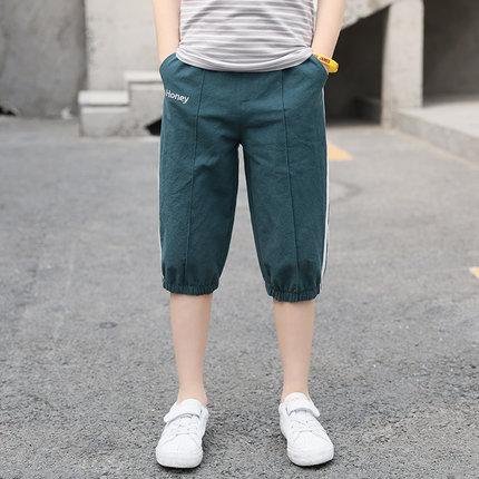 Kids Clothing Boy Fashion Casual Cropped Pants