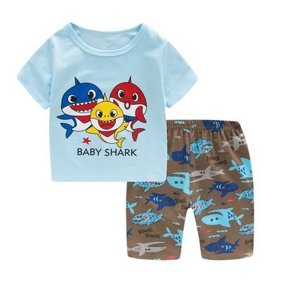 Kids Clothing Boy Fashion Short-sleeved Shirt and Pajamas