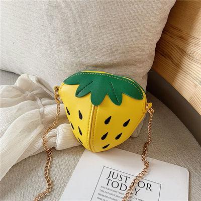 Kids Cute Strawberry Fashion Kindergarten Chain Coin Purse Bag