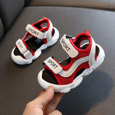 Kids Breathable Soft Bottom Boys Non-slip Mesh Sandals