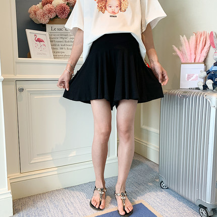 Maternity Clothing Stomach Lift Pleated Skirt