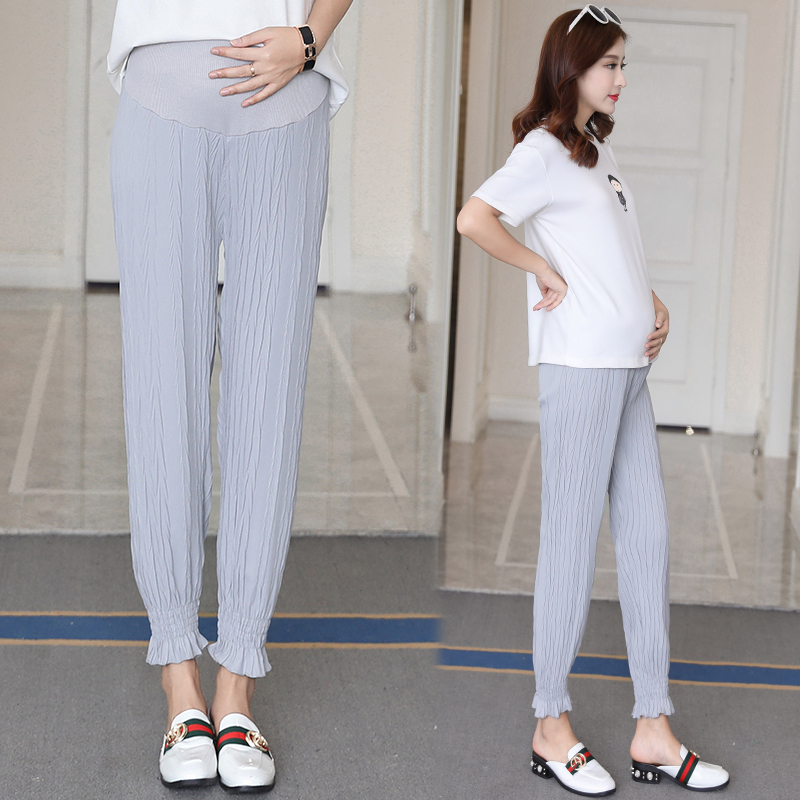 Maternity Clothing Stomach Lift Nine Points Loose Wide Leg Pants