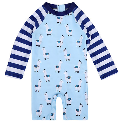 Baby Clothing One-piece Long-sleeved Sunscreen Swimsuit