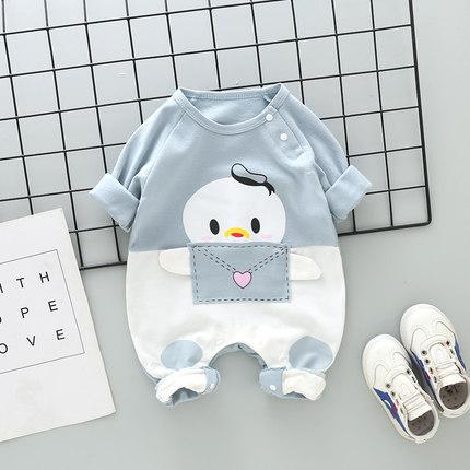 Baby Clothing Newborn Summer Cute Duck Jumpsuit