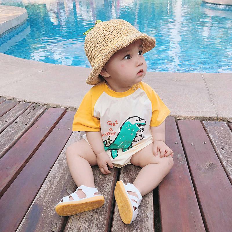Baby Clothing Short-sleeved Summer Triangle Pajamas