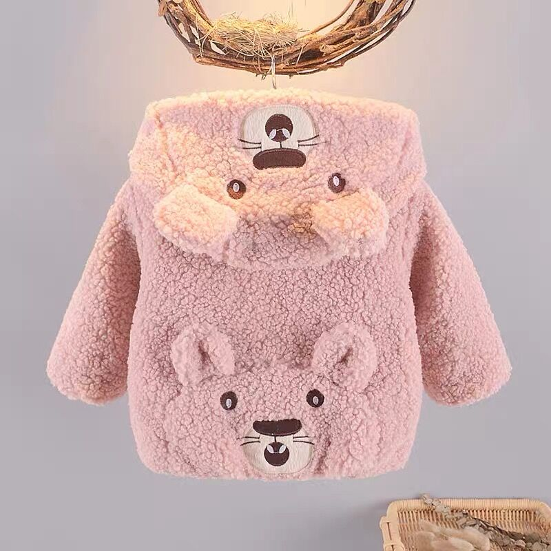 Baby Clothing Winter Warm Cotton Cute Little Bear Jacket