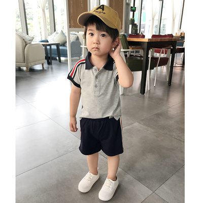 Kids Clothing Casual Short-sleeved Polo Shirt
